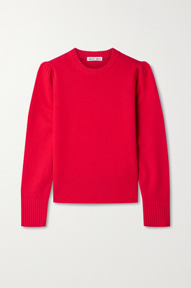 Alex Mill Claire Merino Wool And Cashmere-blend Sweater - Crimson