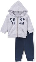 Sweet & Soft Heather Gray 'Surf Team' Hoodie & Navy Pants - Infant