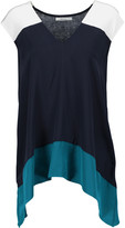 Bailey 44 To The Max color-block silk and stretch-jersey top