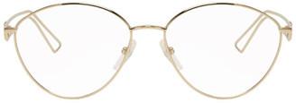 Balenciaga Gold Metal Glasses