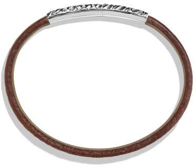 David Yurman Men's Alligator-Embossed Leather & Sterling Silver Bracelet, Brown