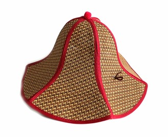 Firesofheaven Chinese Cap Floppy Straw Hat Large Brim Sun Hat Women Summer Beach Cap Big Foldable Fedora Hats