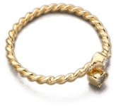 Jacquie Aiche Double Diamond Bezel Twisted Wrap Waif Ring
