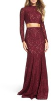 La Femme Women's Embellished Lace Two-Piece Gown