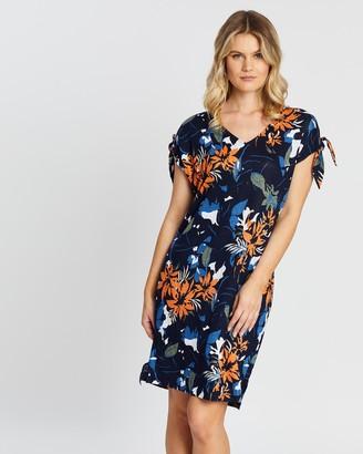 Sportscraft Skye Floral Print Linen Dress