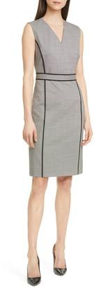 BOSS Doretti Stretch Wool Sheath Dress