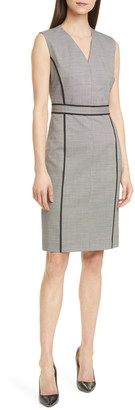 HUGO BOSS Doretti Stretch Wool Sheath Dress