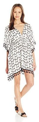 Lucy-Love Lucy Love Women's Kei Lani Cover Up Tassel Dress