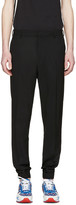 Kenzo Black Wool Elasticized Trousers
