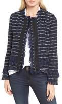 Halogen Raw Edge Tweed Jacket