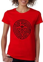 Allntrends Women's T Shirt Maze Map Black Print TV Show Cool Fans T Shirt (M, )