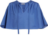 Vika Gazinskaya Cropped Cotton Blouse - Blue