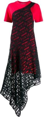 McQ Layered Asymmetric-Hem Dress