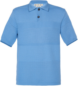 Marni Wool-Blend Polo Shirt