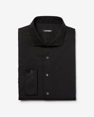 Express Extra Slim Half Bib Tuxedo Dress Shirt