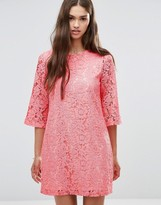 Darling 3/4 Sleeve Lace Shift Dress