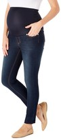Times 2 Women's Denim Pants and Jeans Dark - Dark Wash Over-Belly Open-Seam Crop Maternity Skinny Jeans - Plus Too