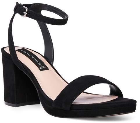 2ac41fab95f Viga Suede Block Heel Sandal