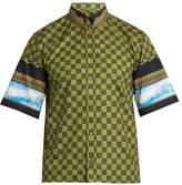Givenchy Box-cut short-sleeved cotton shirt