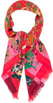 Hermes Fantaisies Indiennes Cashmere Silk Scarf