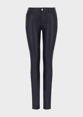 Emporio Armani Super Skinny J18 Coated Trousers