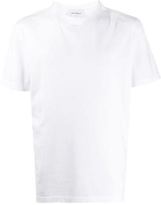 Salvatore Ferragamo embroidered logo cotton T-shirt