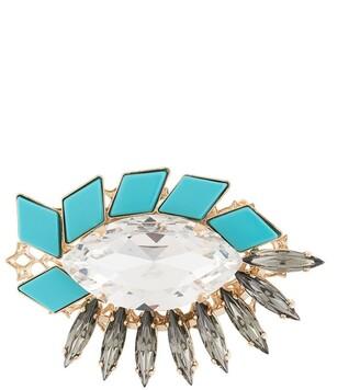 Anton Heunis Mosaic crystal brooch