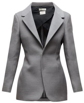 Bottega Veneta Single-breasted Blazer - Womens - Grey