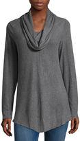 Alyx Long Sleeve Cowl Neck Knit Blouse