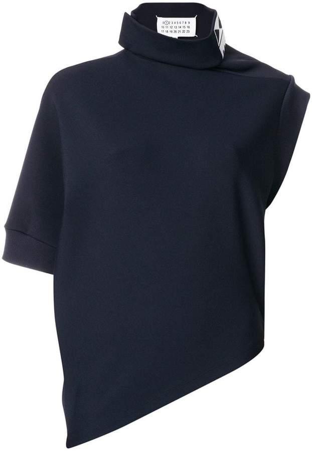 Maison Margiela asymmetric funnel-neck top