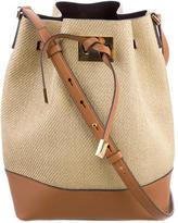 Michael Kors Miranda Straw Bucket Bag