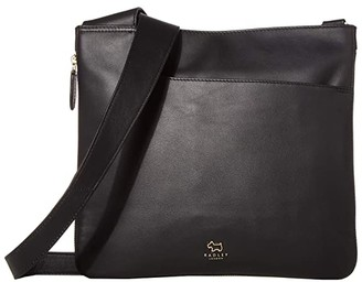 Radley London Pockets - Large Zip Around Crossbody Bag (Black) Handbags