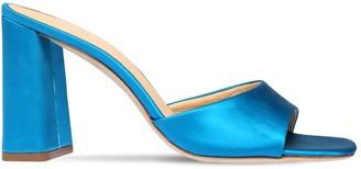 BY FAR 90mm Juju Satin Mule Sandals
