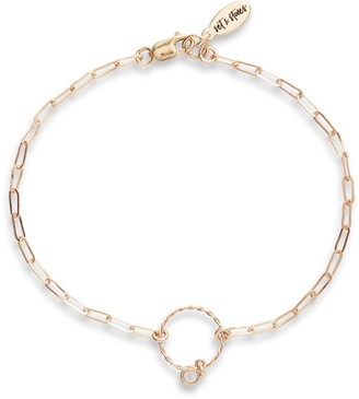 Set & Stones Caroline Bezeled Crystal Chain Link Bracelet