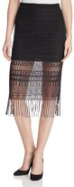 Vero Moda Febe Fringe Hem Crochet Skirt