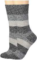 Columbia 2-Pack Marled Stripe Micro Poly Crew Women's Crew Cut Socks Shoes