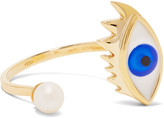 Delfina Delettrez 9-karat Gold, Pearl And Enamel Ring - one size