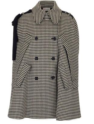 RED Valentino Vichy Motif Cape Coat