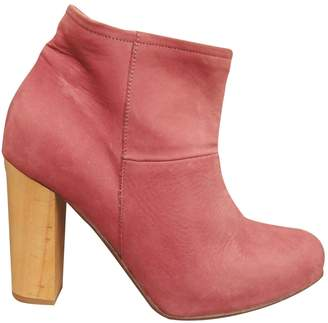 A.P.C. \N Red Leather Ankle boots