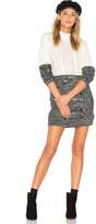 MinkPink Two Faced Mixed Knit Dress
