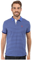 U.S. Polo Assn. Slim Fit Micro Shadow Stripe Polo Shirt