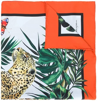 Dolce & Gabbana Jungle Print Scarf