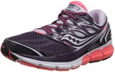 Saucony Women's Hurricane ISO Road Running Shoe, Purple/Coral/Lavendar