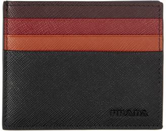 Prada Multicolor Saffiano Degrade Card Holder