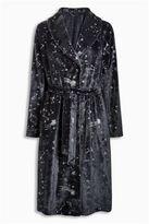 Next Womens Grey Floral Printed Robe