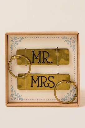 Mr and Mrs Key Chain Set