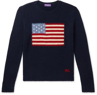Ralph Lauren Purple Label Slim-Fit Intarsia Cashmere Sweater