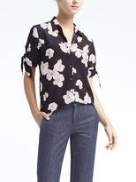 Banana Republic Easy Care Dillon-Fit Bow-Sleeve Shirt