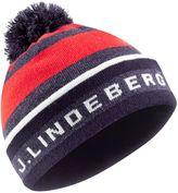 J Lindeberg Stripe Golf Beanie