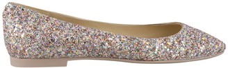 Jimmy Choo Model Glitter Flats